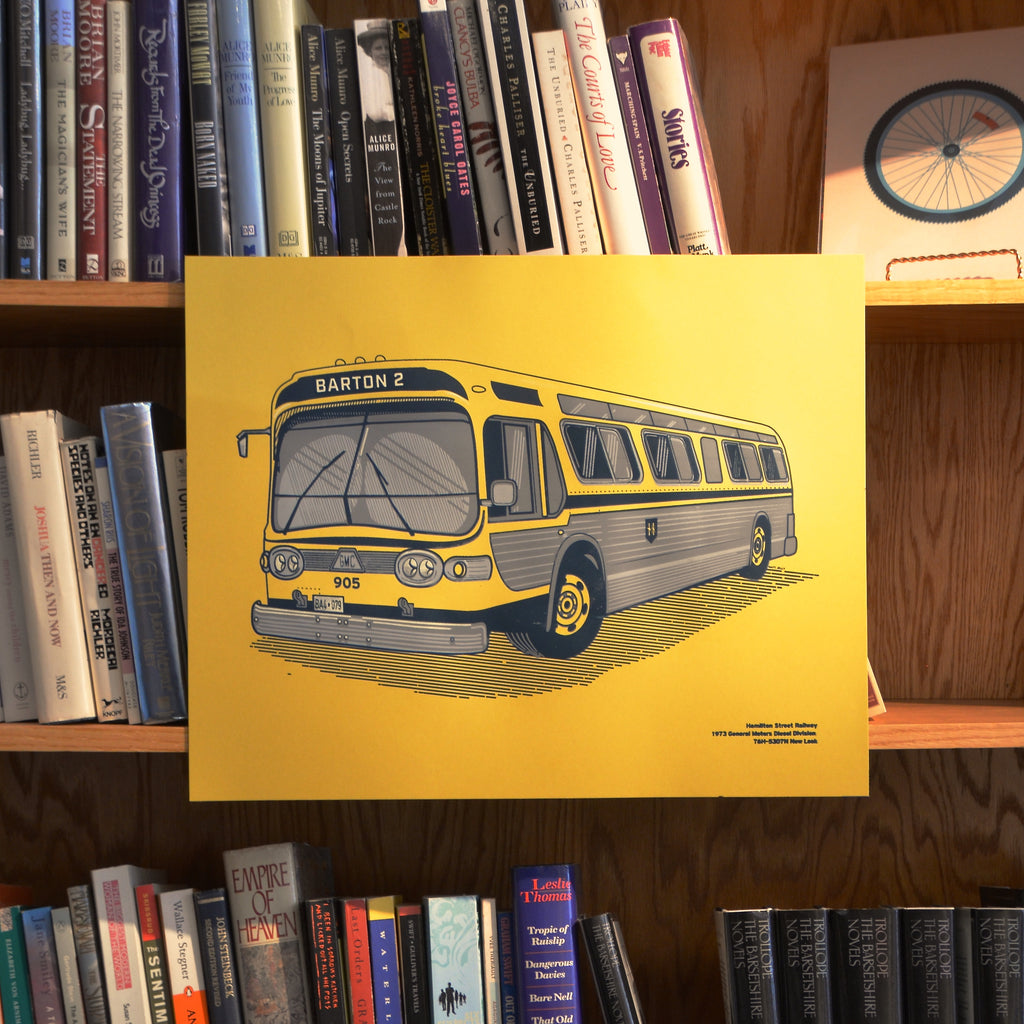 Hamilton Fishbowl Bus Screen Printed Poster (GM New Look)