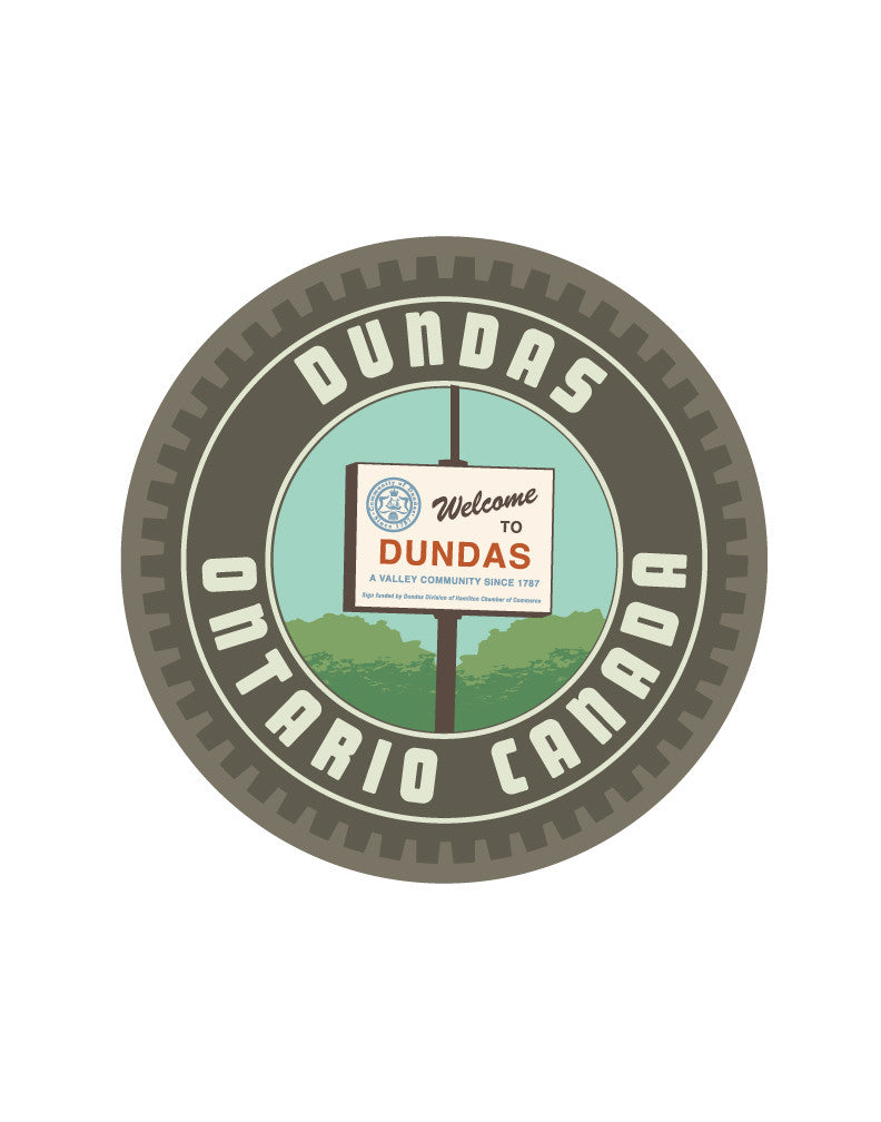 Dundas Crest: Welcome Sign Print