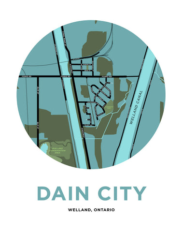 Dain City Map Print