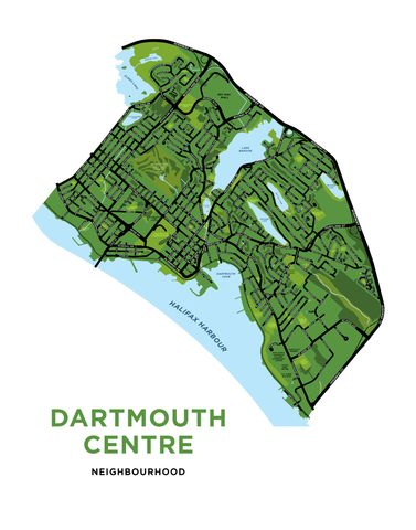 Dartmouth Centre Map Print