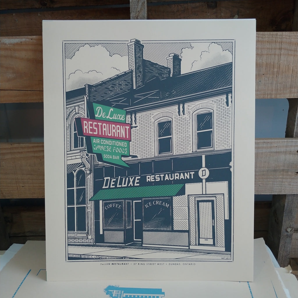 Screen Print: DeLuxe Restaurant, Dundas