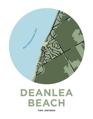 Deanlea Beach Map Print