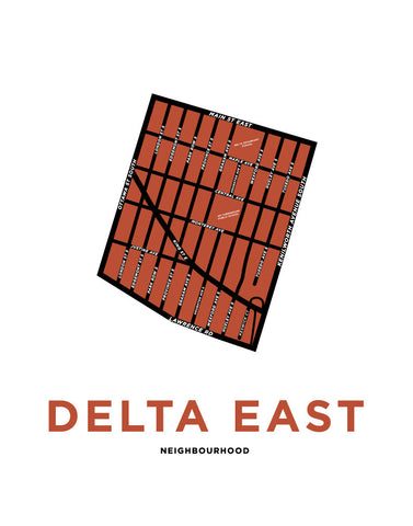 Delta East Neighbourhood Map