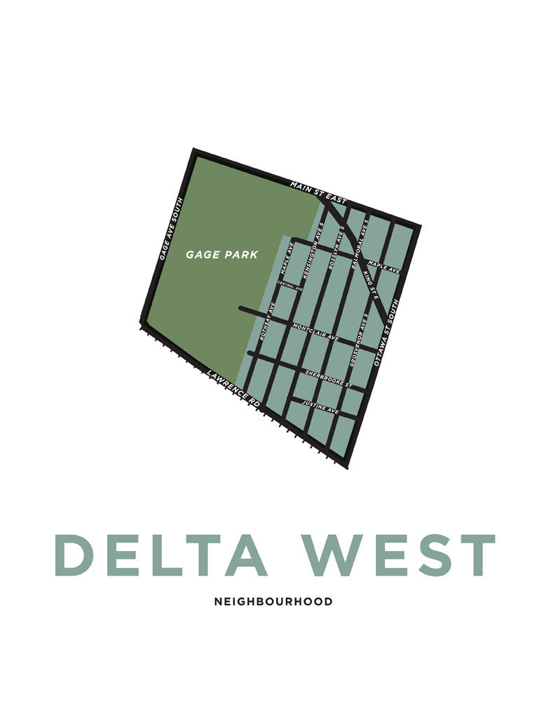 Delta West Neighbourhood Map