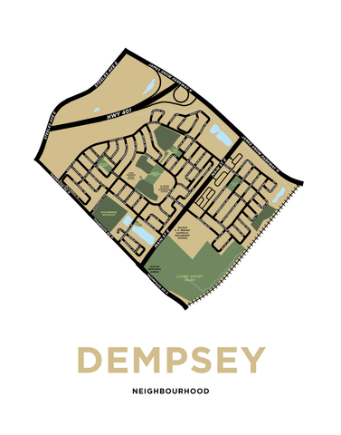 Dempsey Neighbourhood Map Print