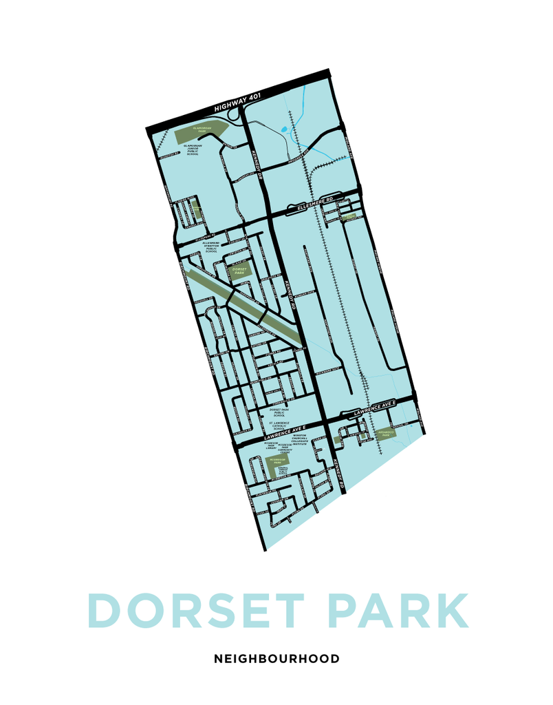 Dorset Park Neighbourhood Map Print