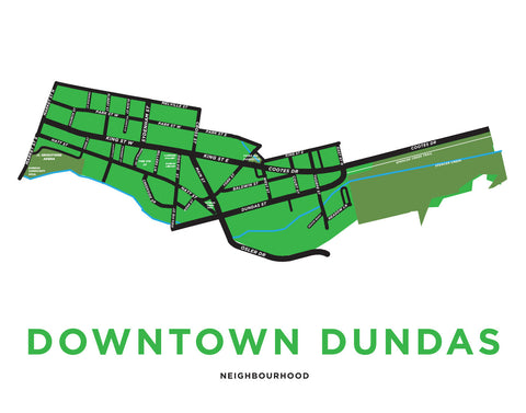 Downtown Dundas Map - Preview