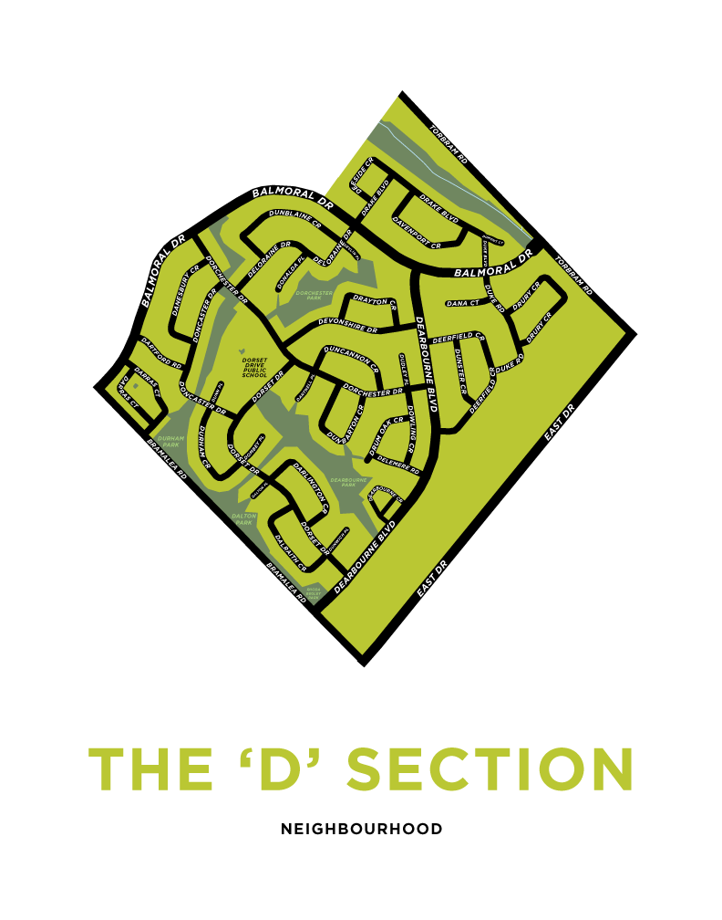 D Section Neighbourhood Map Print