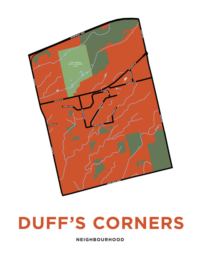 Duff's Corners Neighbourhood Map
