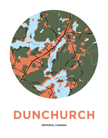 Dunchurch Map Print