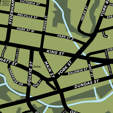 Dundas Downtown & Area Map Print