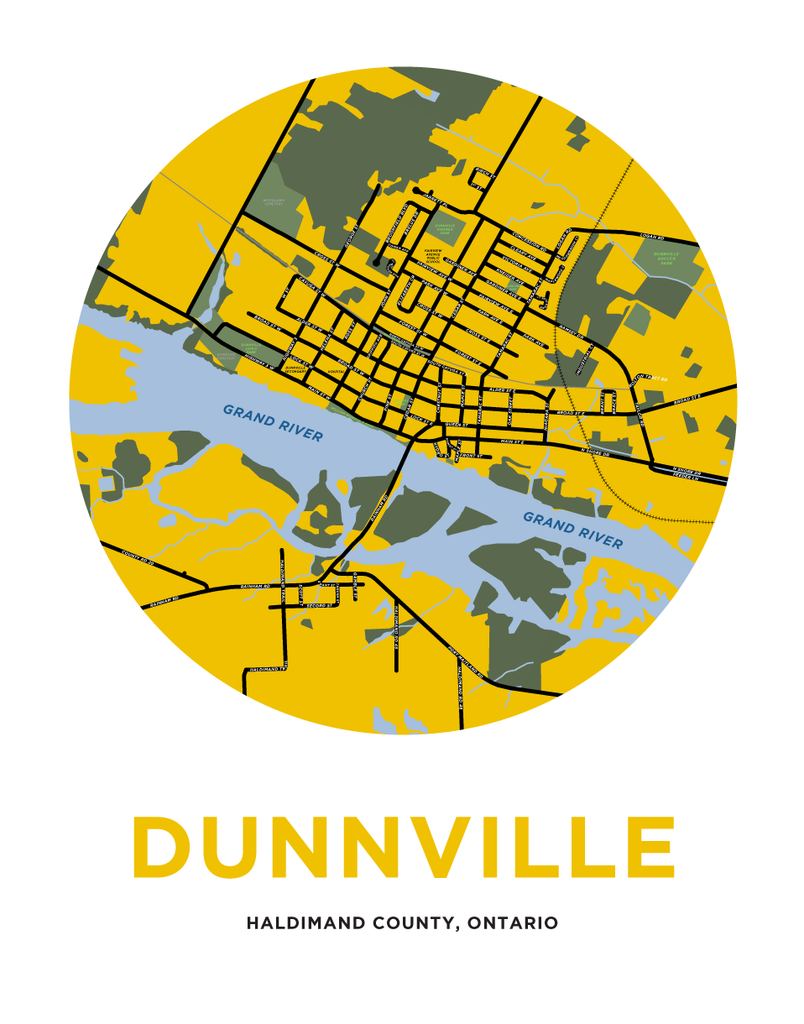 Dunnville Map Print