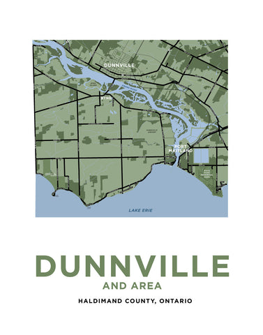 Dunnville Area Map Print