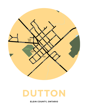 Dutton Map Print