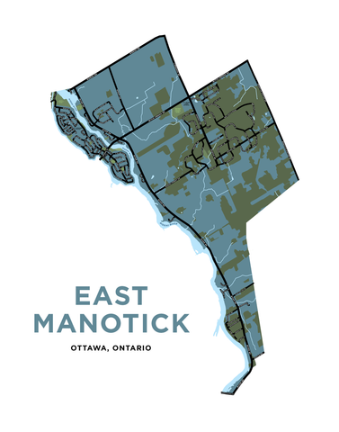 East Manotick Map Print