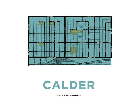 Calder Neighbourhood Map Print