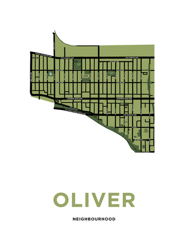 Oliver Neighbourhood Map Print