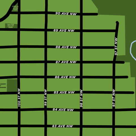 Edmonton - Strathcona Neighbourhood Map
