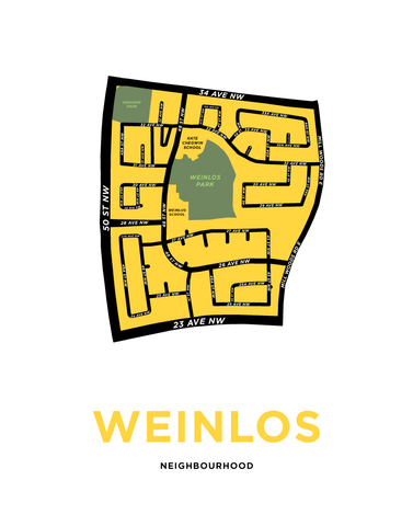 Weinlos Neighbourhood Map Print