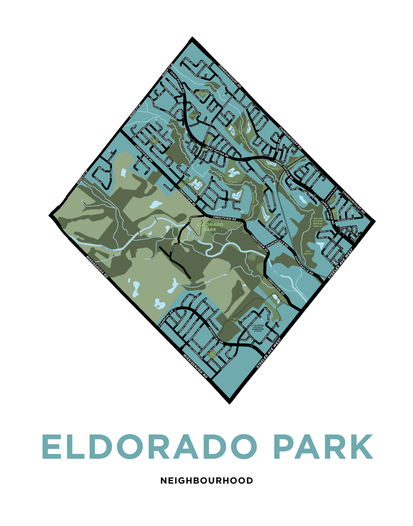 Eldorado Neighbourhood Map Print