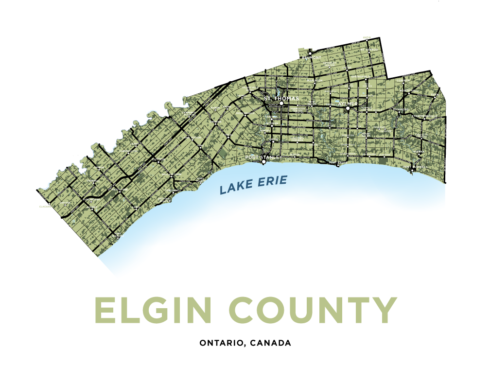 Elgin County Map Print