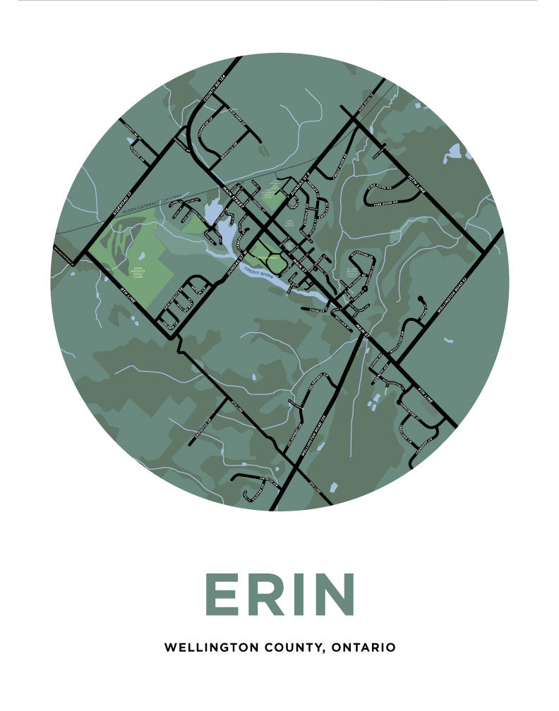 Erin Village Map Print