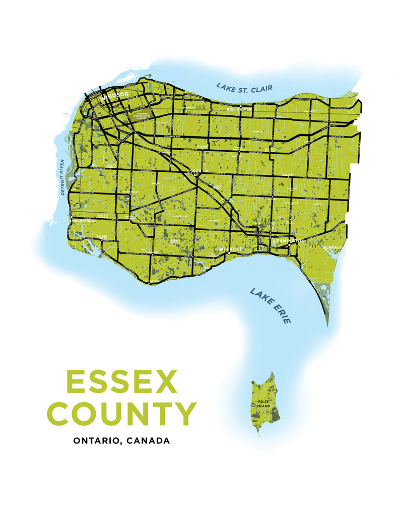 Essex County Map Print