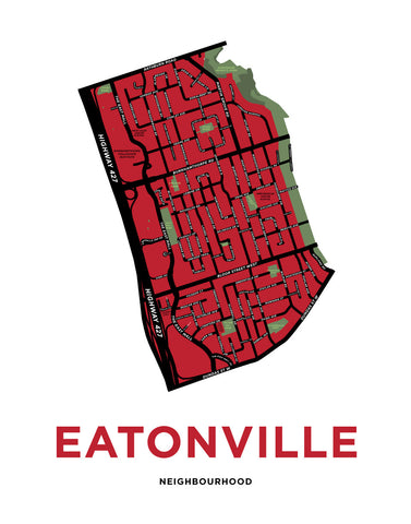 Eatonville Neighbourhood Map Print