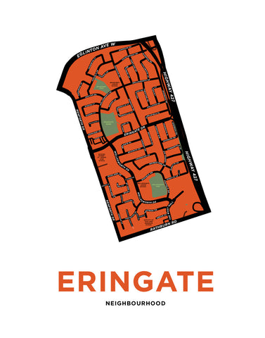 Eringate Neighbourhood Map Print