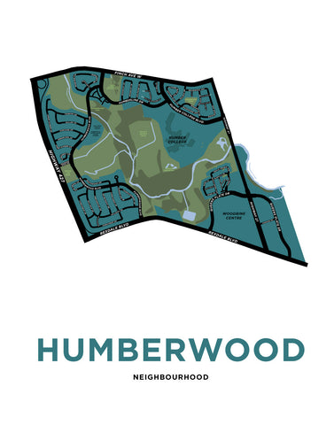 Humberwood Neighbourhood Map Print