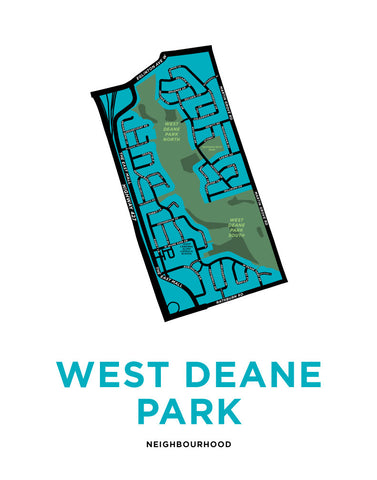West Deane Park Neighbourhood Map Print