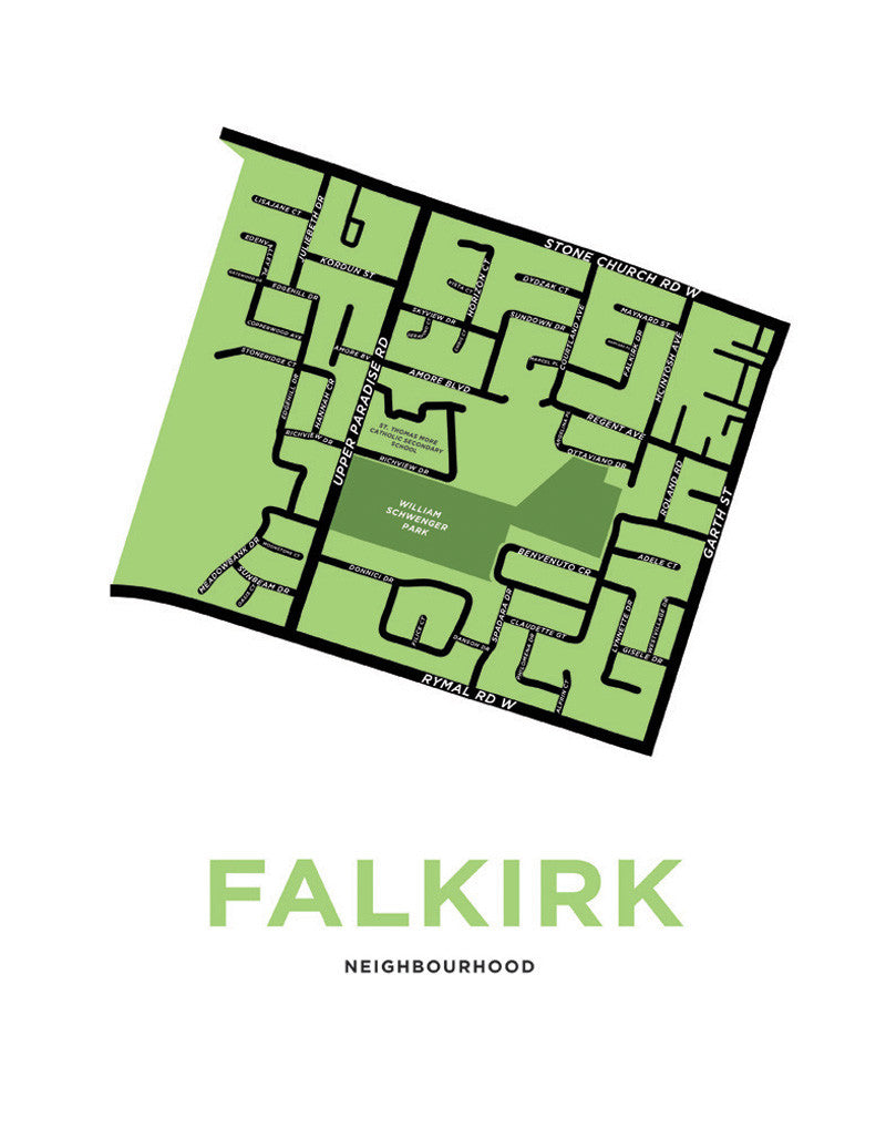 Falkirk Neighbourhood Map - Low Resolution Preview