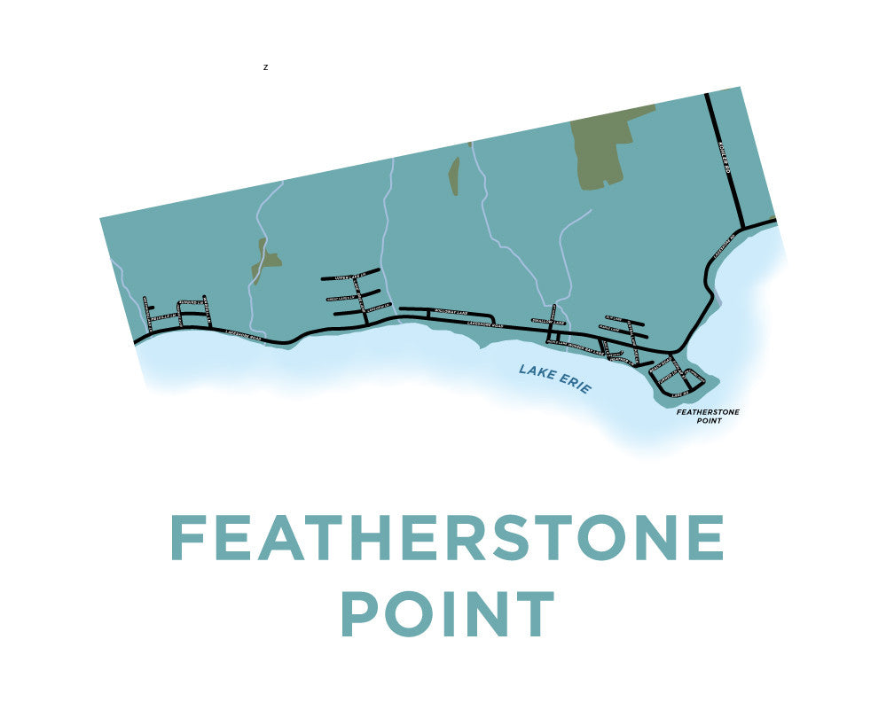 Featherstone Point Map Print
