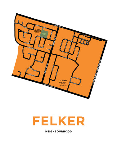 Felker Neighbourhood Map