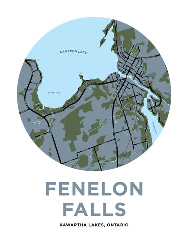 Fenelon Falls Map Print