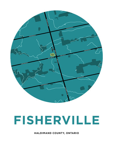 Fisherville Map Print