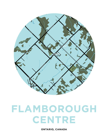 Flamborough Centre Map Print
