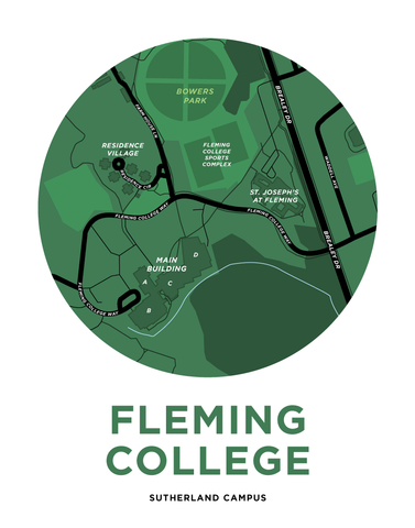 Fleming College - Sutherland Campus Map Print