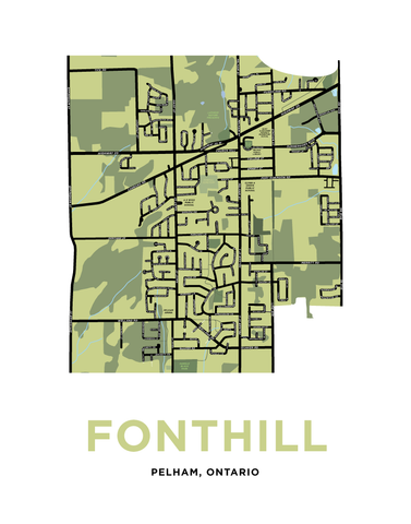 Fonthill Map Print