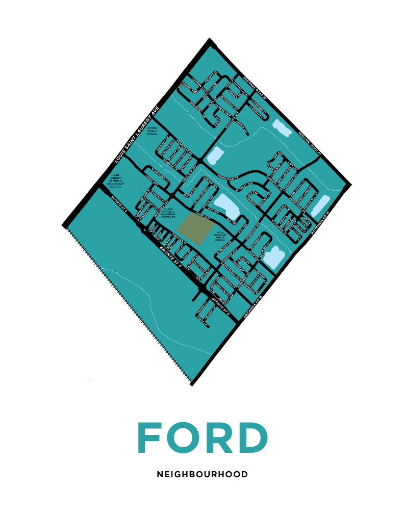 Ford Neighbourhood Map Print