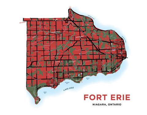 Fort Erie Map Print