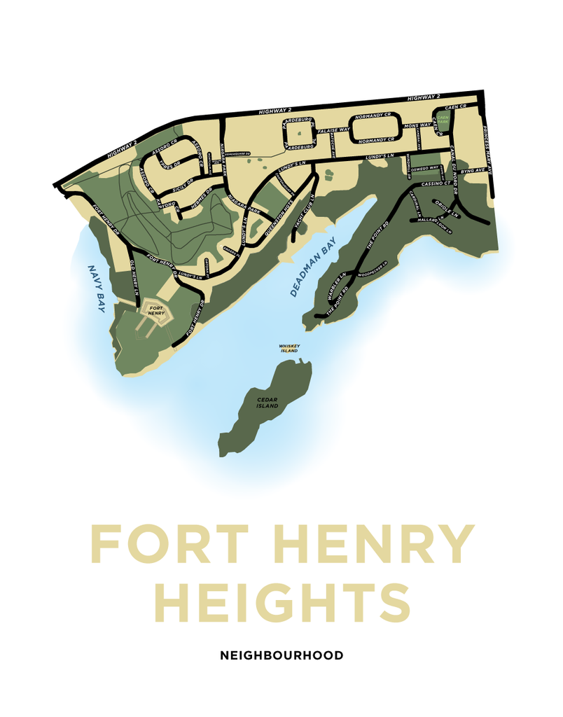 Fort Henry Heights Neighbourhood Map Print