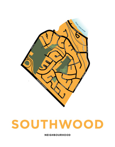 Southwood Neighbourhood Map (Fredricton, NB)