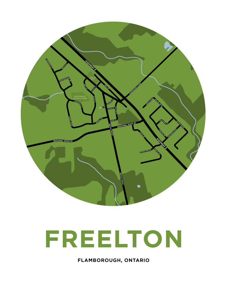 Freelton Map