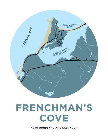 Frenchman's Cove Map Print