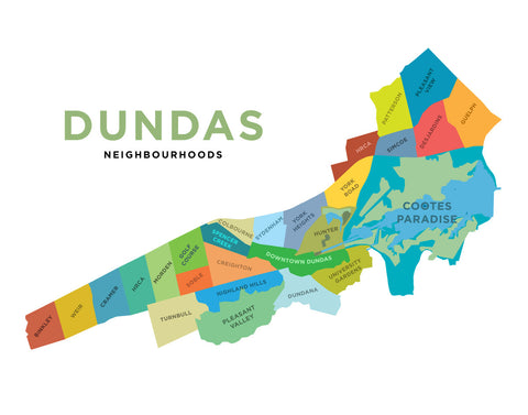 Dundas Neighbourhoods Map - Simple Version
