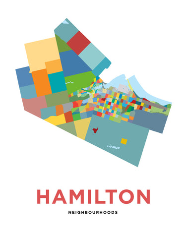 Hamilton Neighbourhoods Map - Simple Version