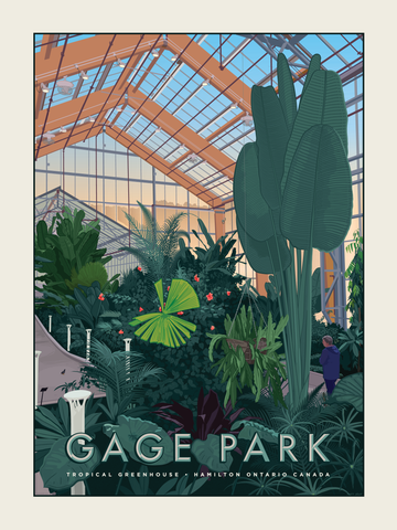 Print of the new Gage Park Greenhouse in Hamilton, Ontario