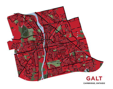 Galt Map Print (Cambridge)