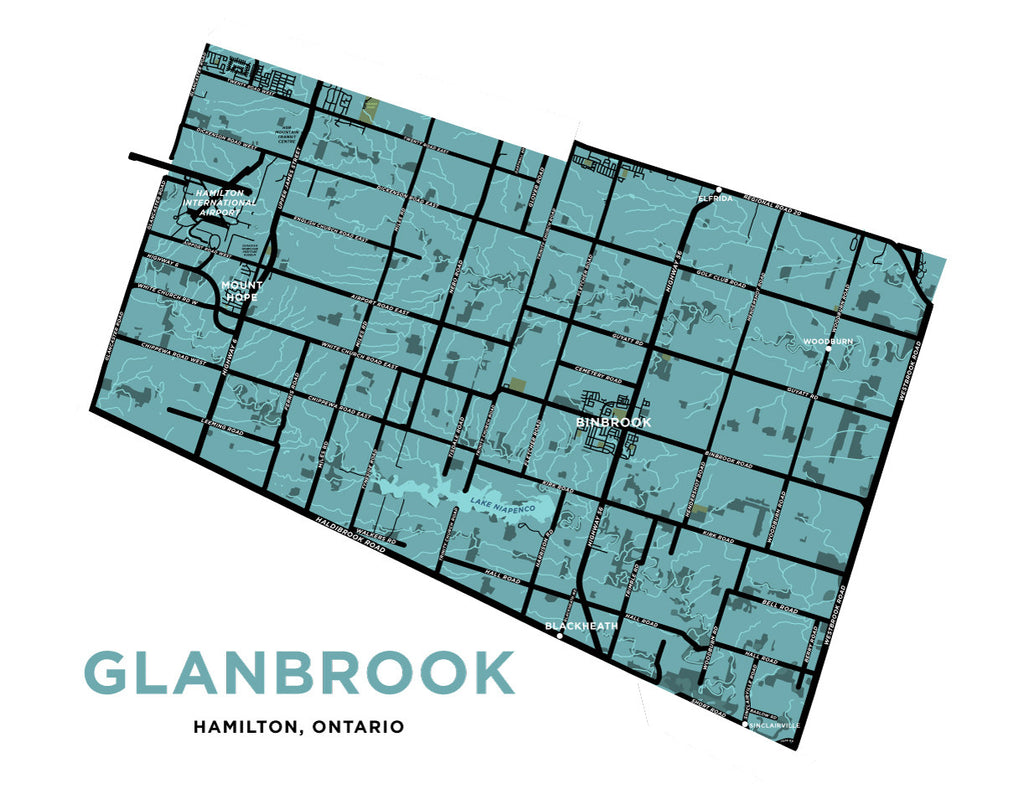 Glanbrook Map Print